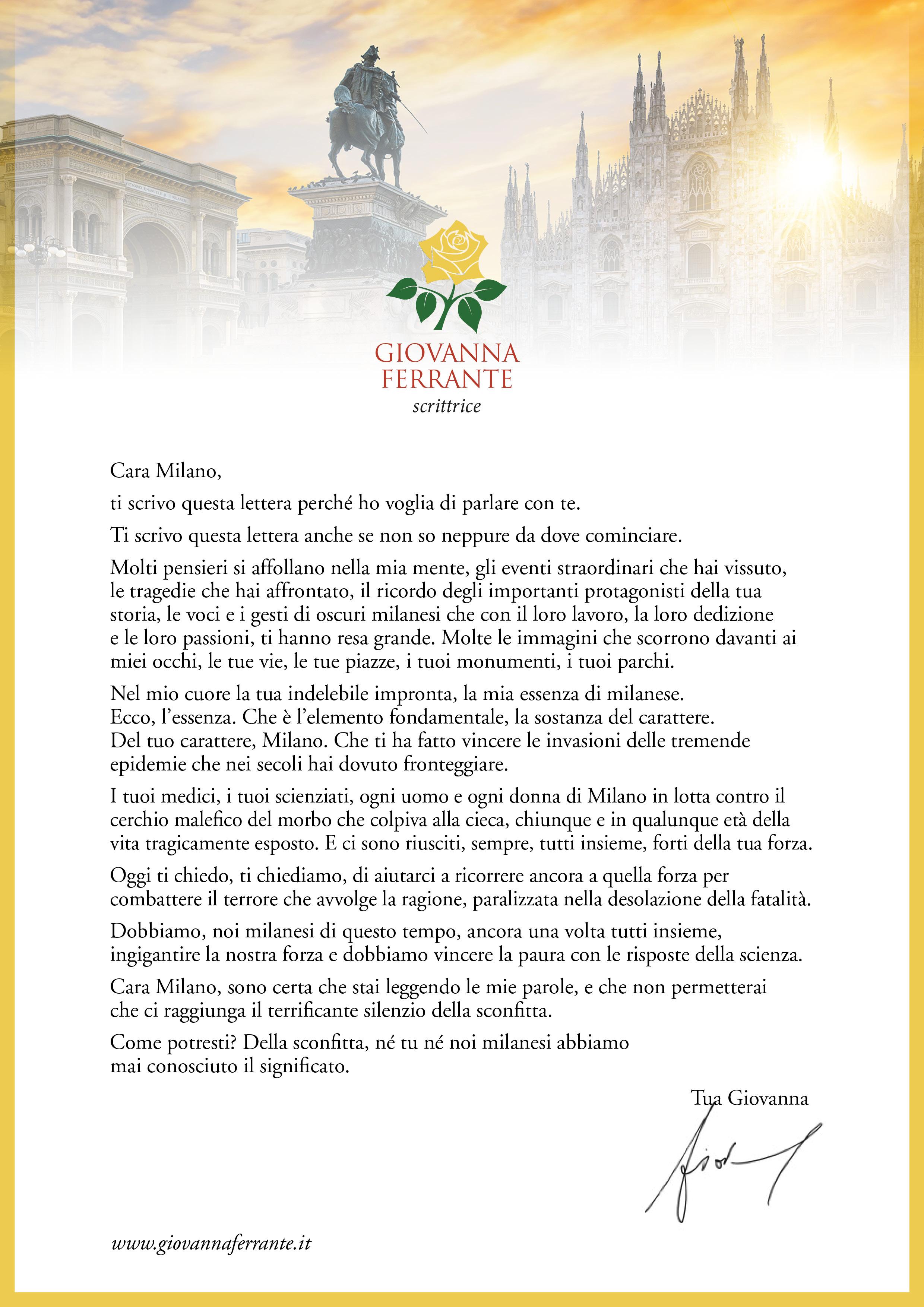 Giovanna Ferrante - Lettera a Milano
